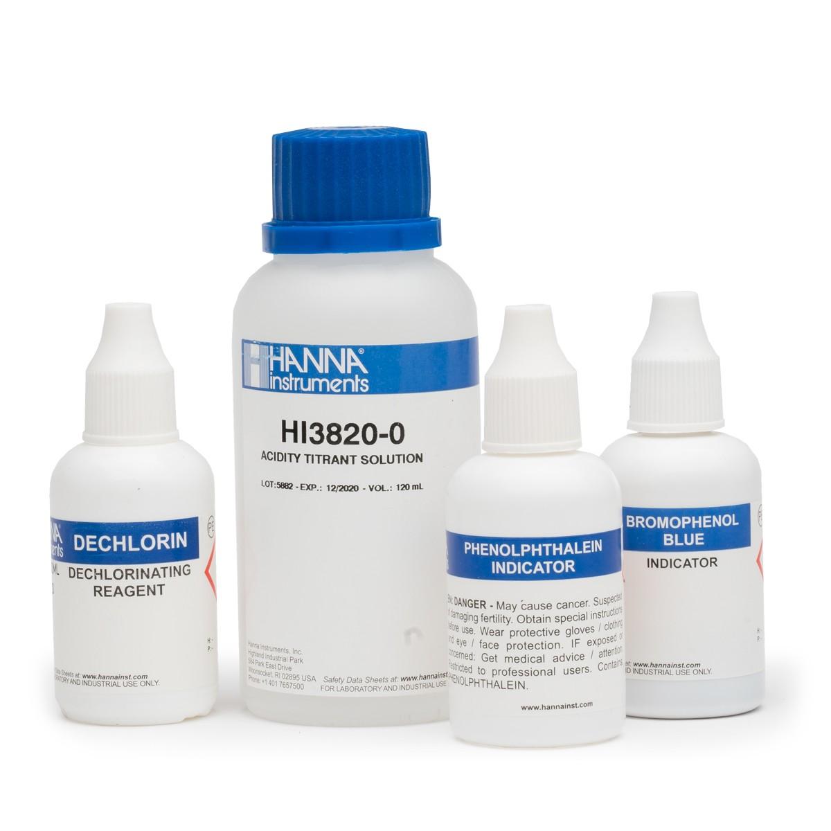 Reactivi de rezervă Test Aciditate (100 teste) - HI3820-100