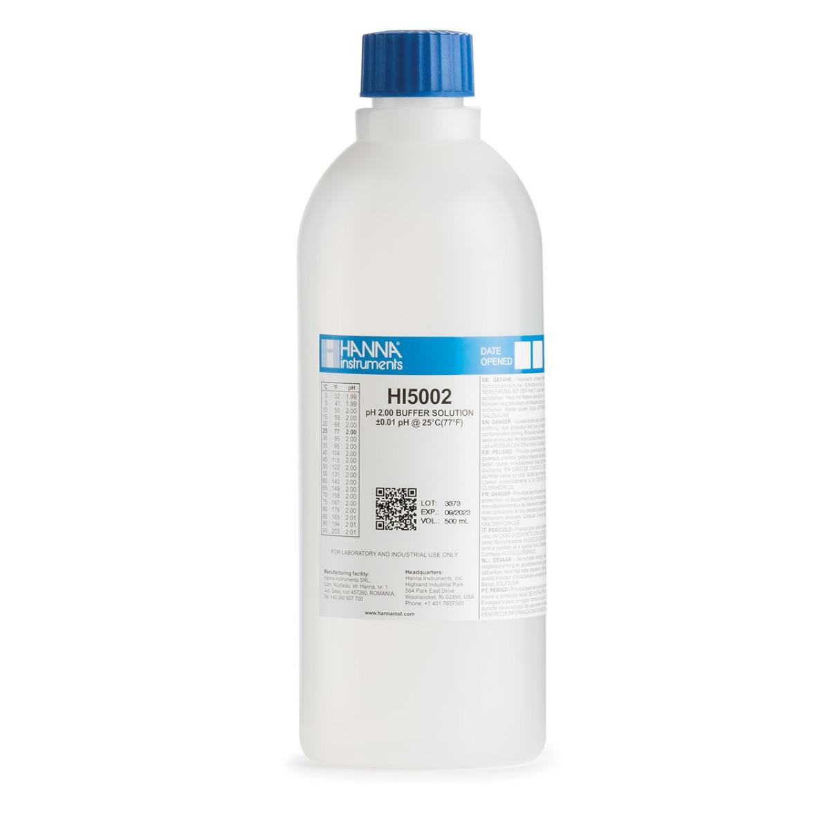 HI5002 pH 2.00 Technical Calibration Buffer (500 mL)