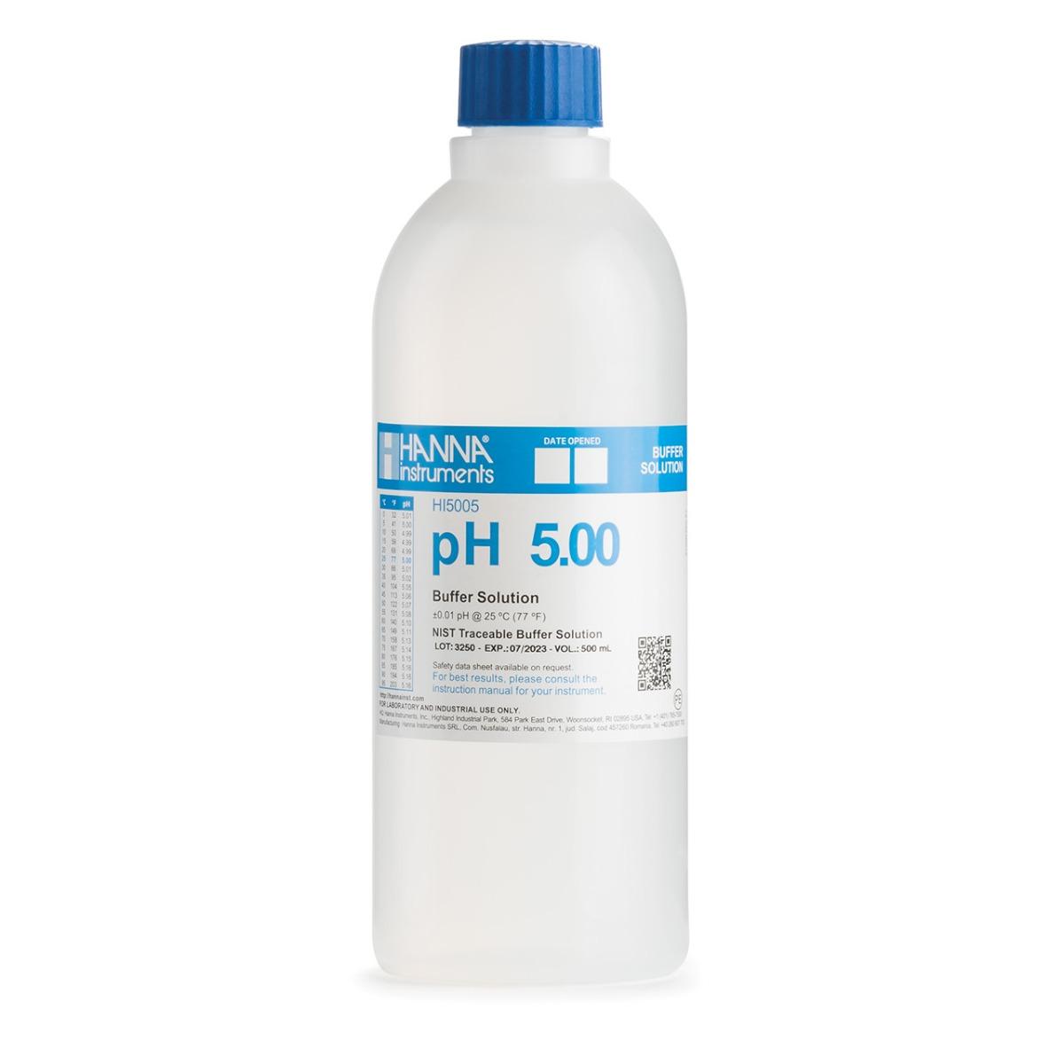 HI5005-01 pH 5.00 Technical Calibration Buffer (1 L)