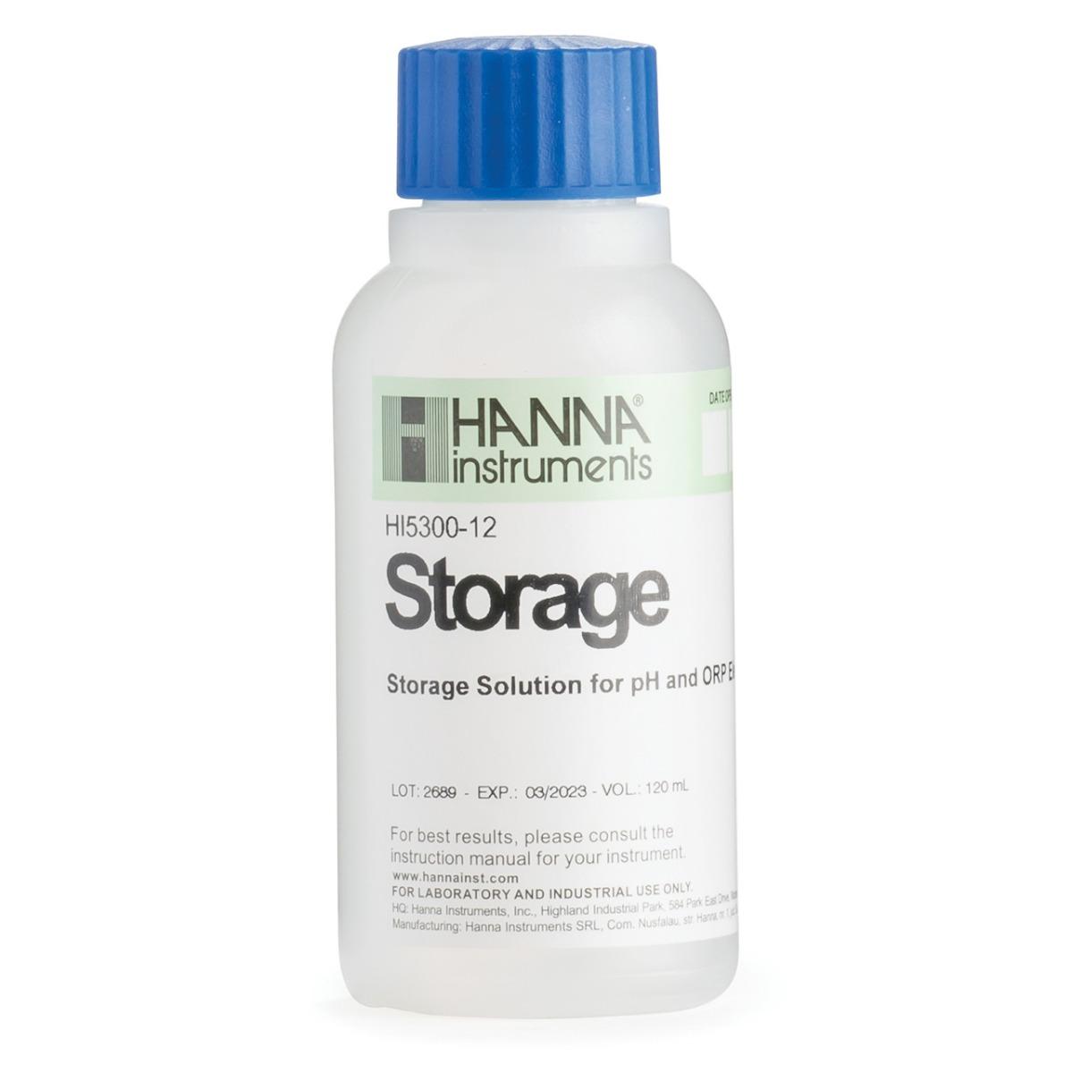 HI5300-12 Electrode storage solution (120 mL) bottle