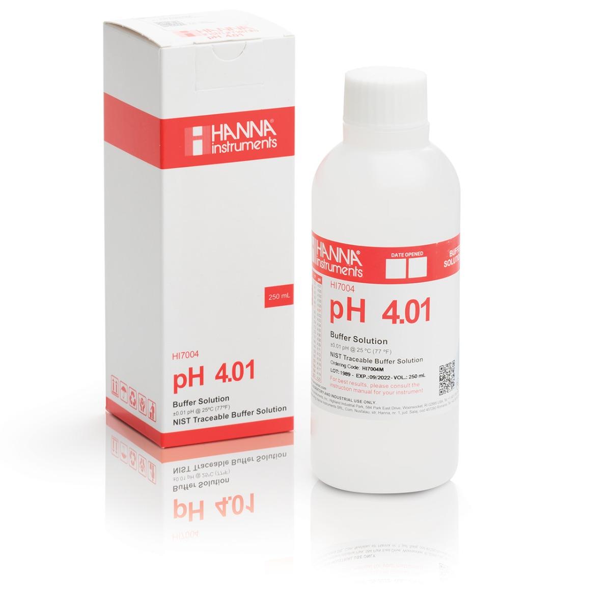 HI7004M pH 4.01 Calibration Solution (230 mL)