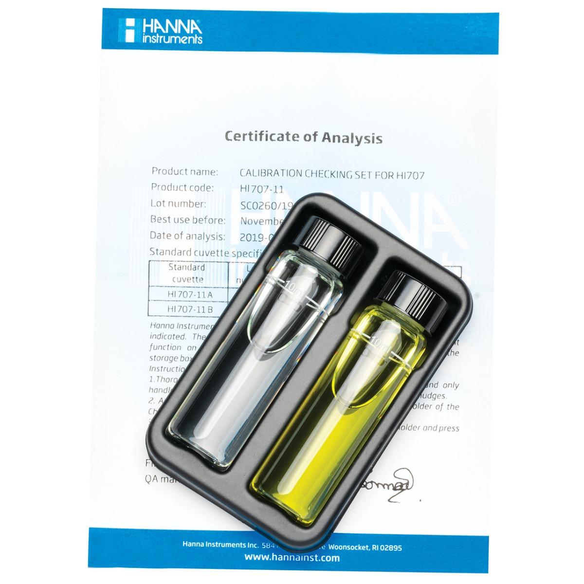 HI707-11 Nitrite Low Range Checker®HC Calibration Set