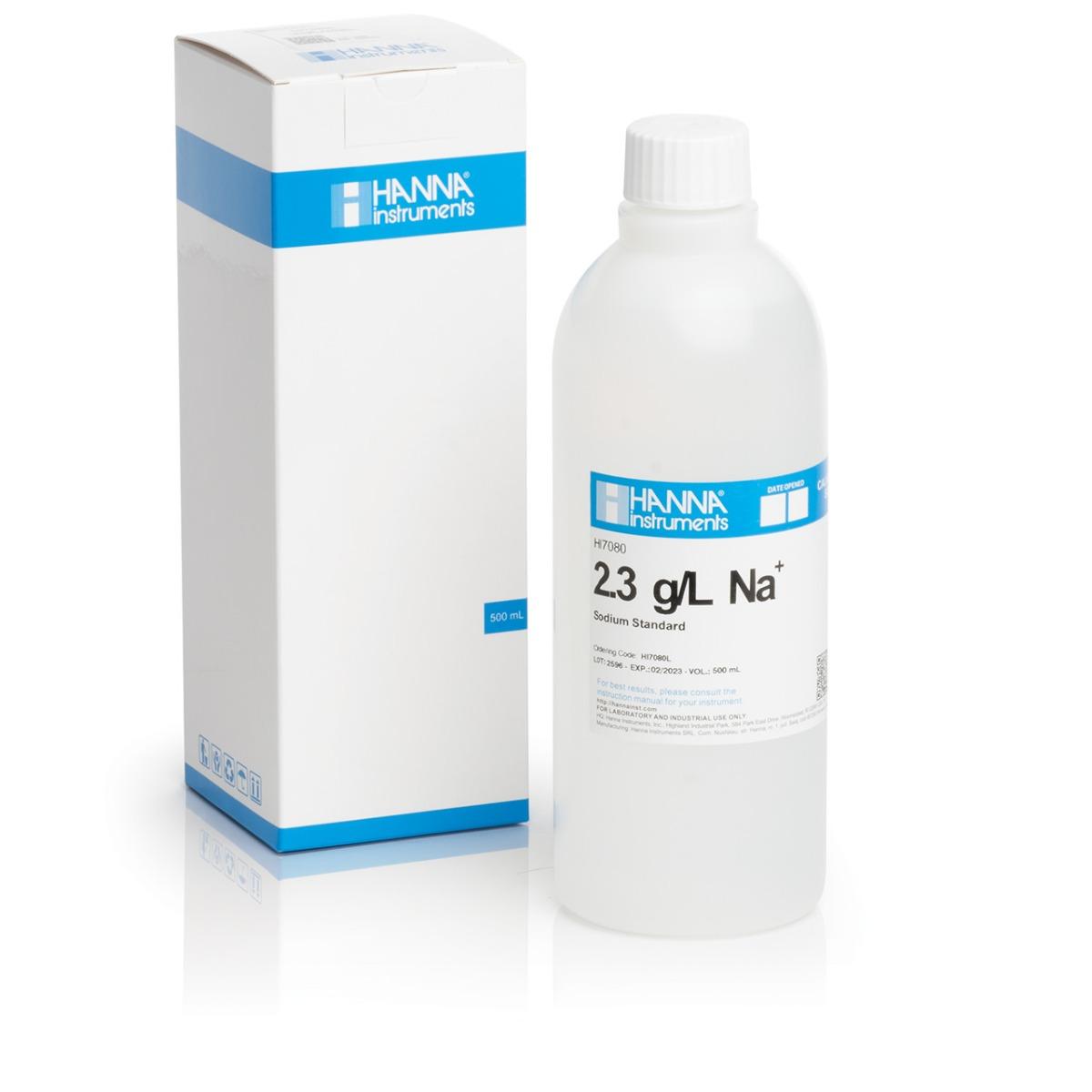 Soluție standard Sodiu 2.3 g/L (500 mL) - HI7080L