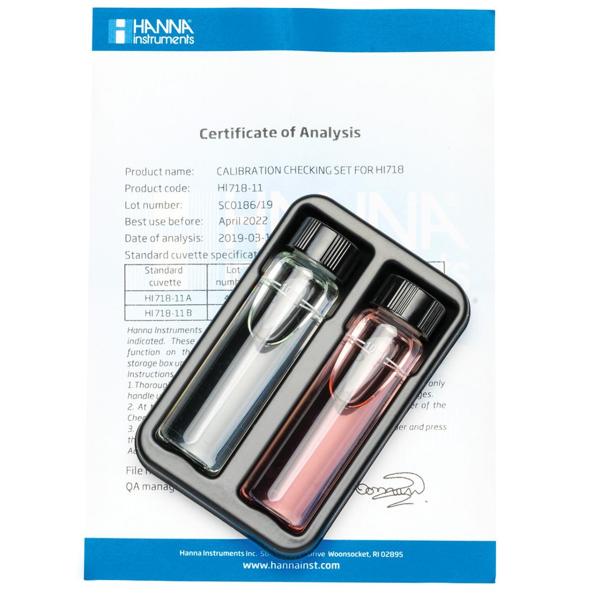 HI718-11 Iodine Checker® HC Calibration Set