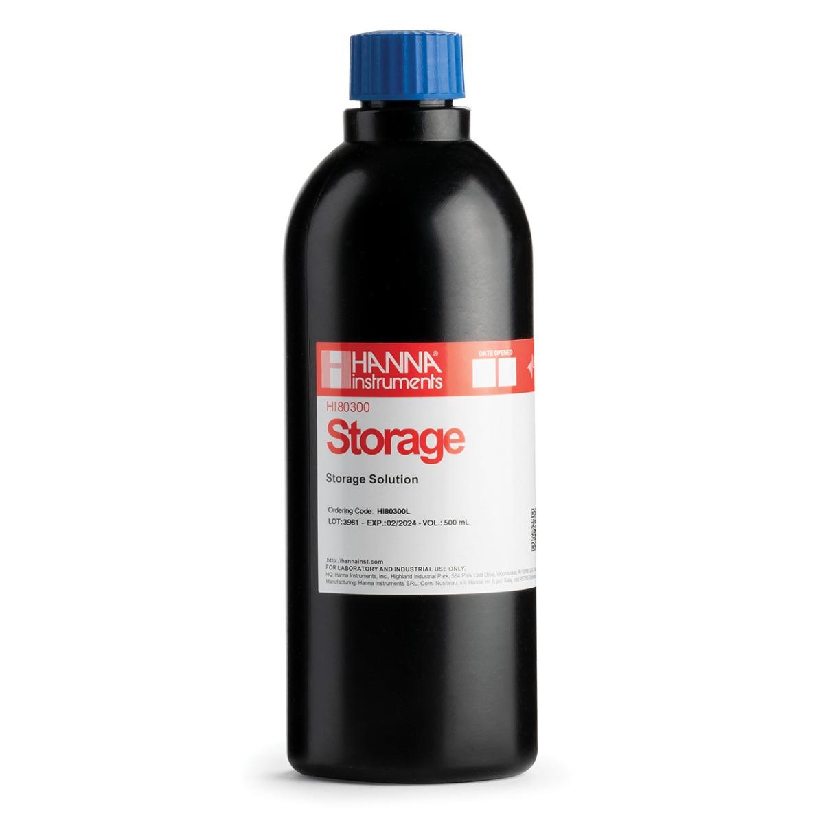 HI80300L Electrode Storage Solution in FDA Bottle (500 mL)