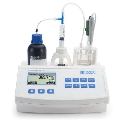 HI84530 Total Titratable Acidity Titrator and pH Meter for Water Analysis