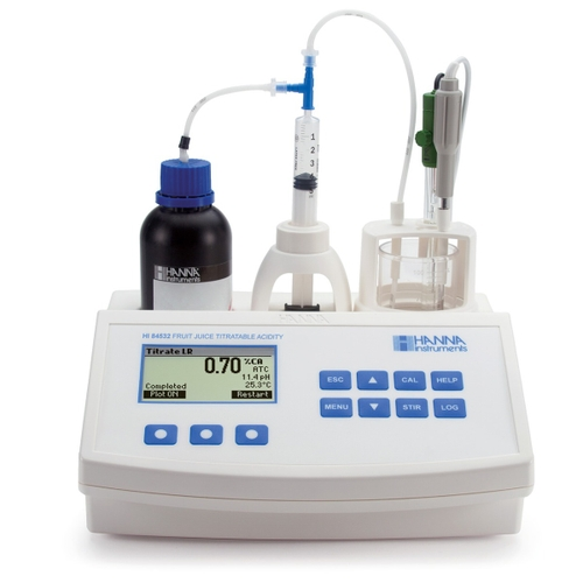 HI84532 Titratable Acidity Mini Titrator for Fruit Juice Analysis