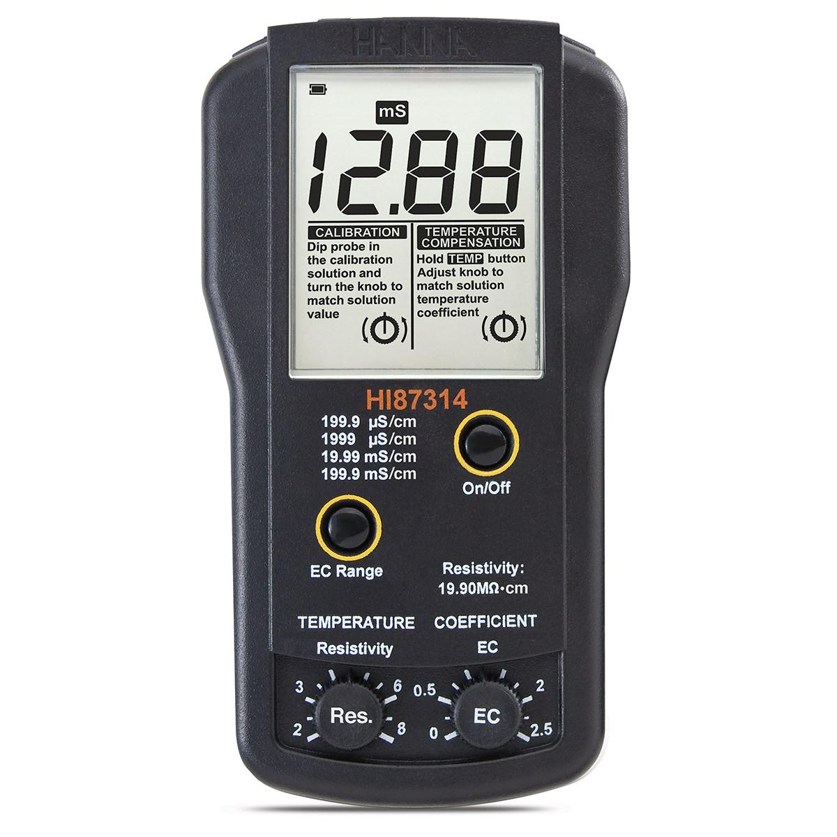 Conductometru portabil EC și rezistivitate - HI87314