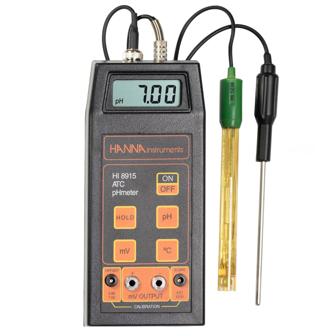 Aparat portabil pentru pH/ mV/ °C - HI8915