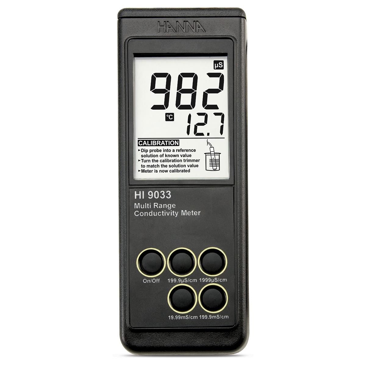 Conductometru portabil rezistent la apă - HI9033
