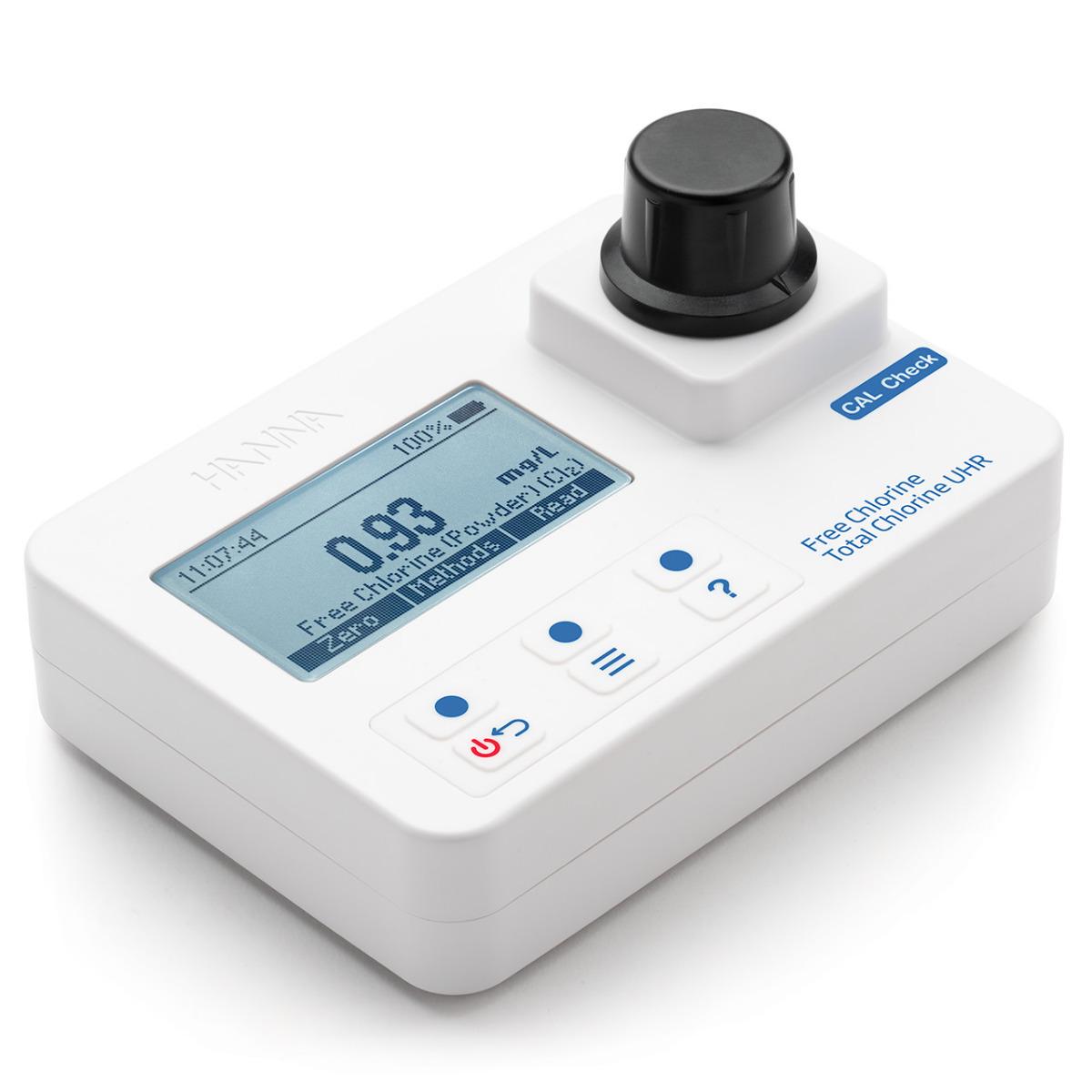 HI97771 Free Chlorine and Ultra High Range Total Chlorine Portable Photometer