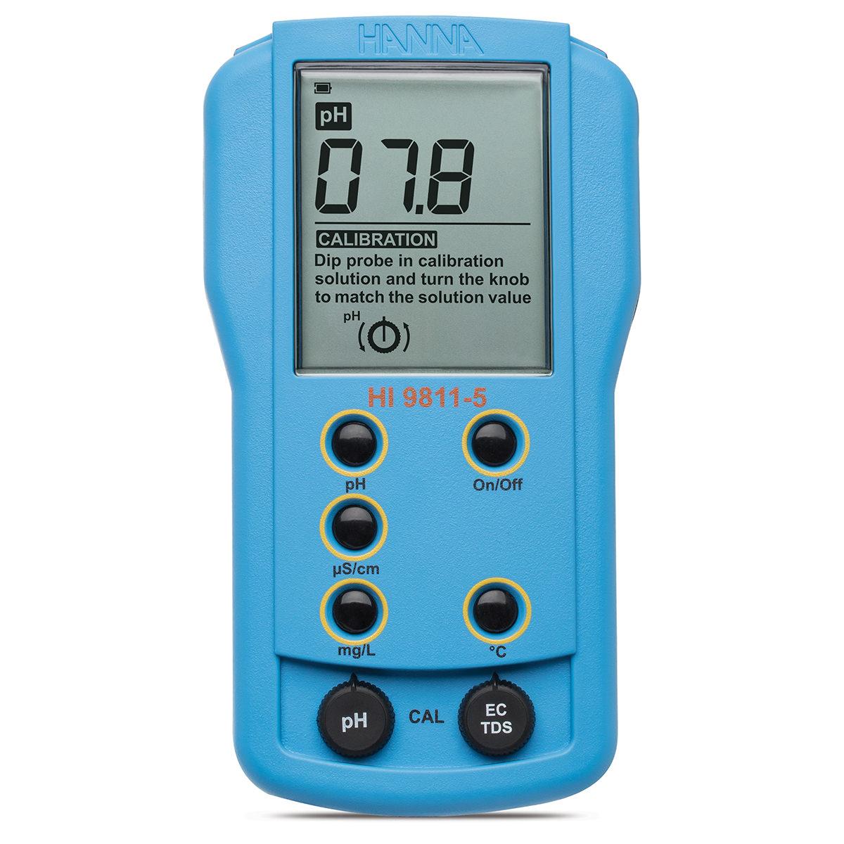 Multiparametru portabil pH/EC/TDS/Temperatură - HI9811-5