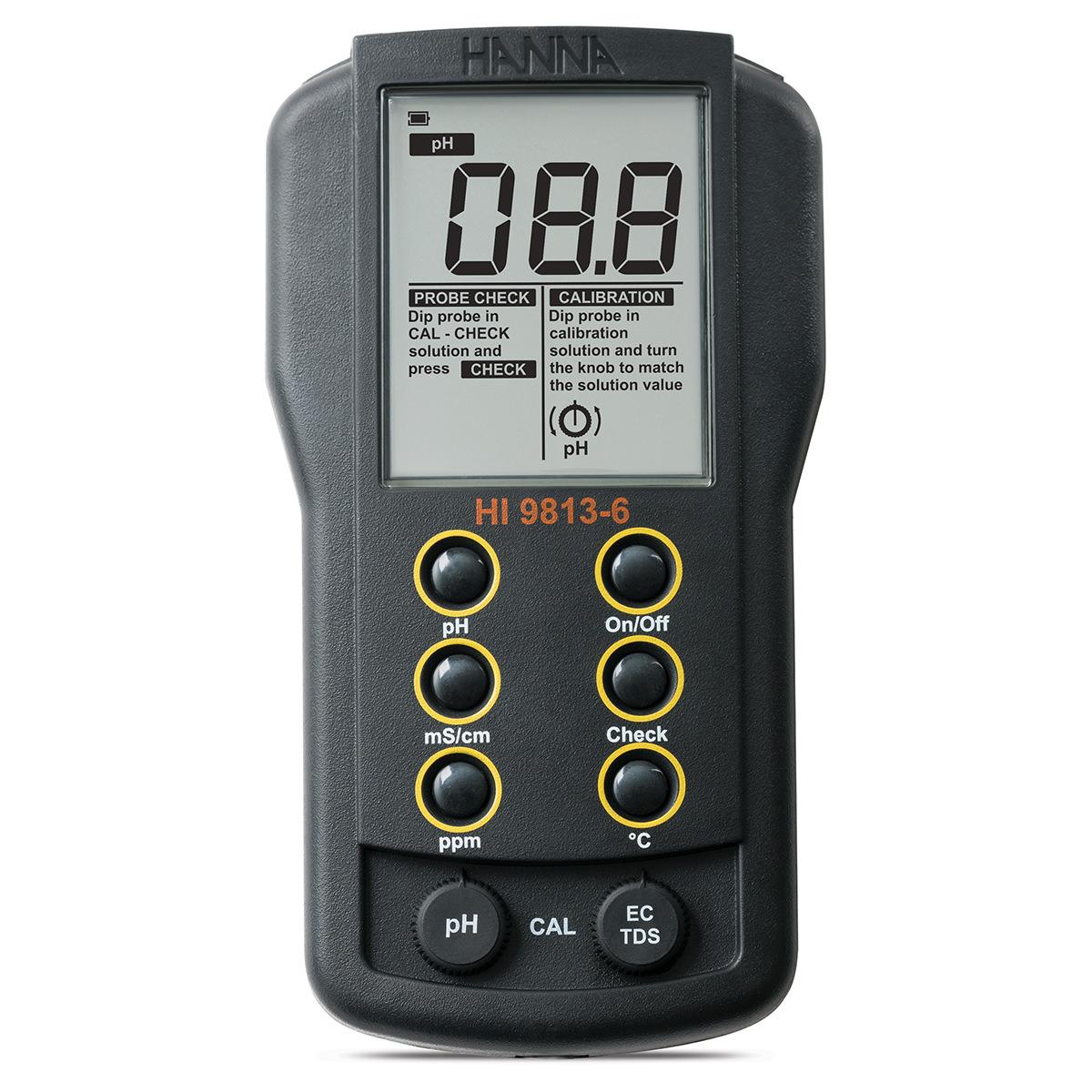 Multiparametru portabil pH/EC/TDS/Temperature cu funcție CAL Check™ - HI9813-6