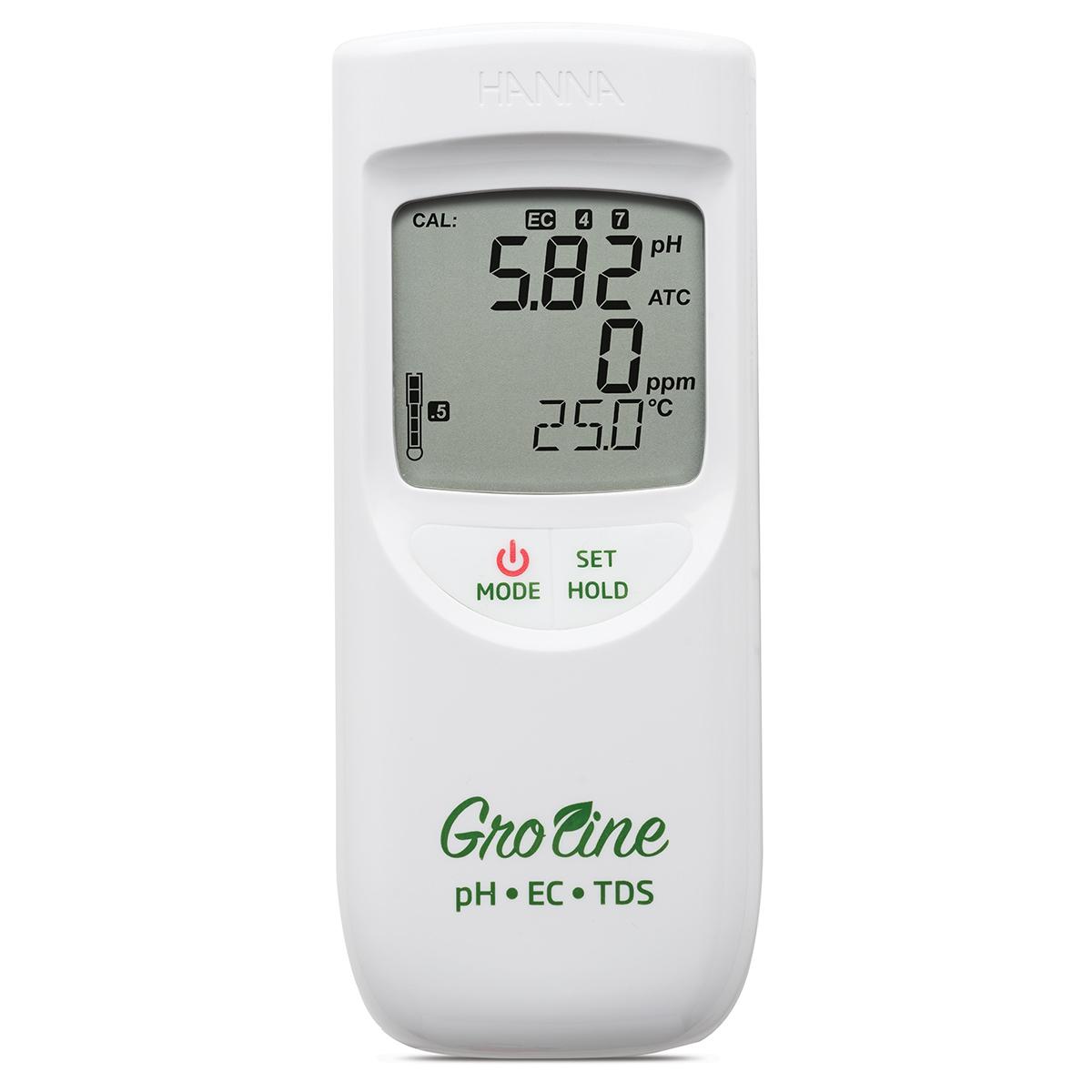 Multiparametru portabil GroLine pH/EC/TDS/Temperatură impermeabil - HI9814