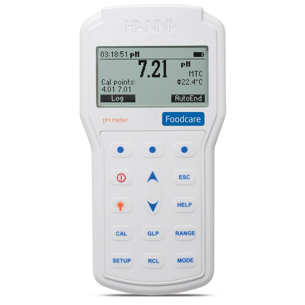 pH-metru portabil profesional pentru industria alimentară - HI98161