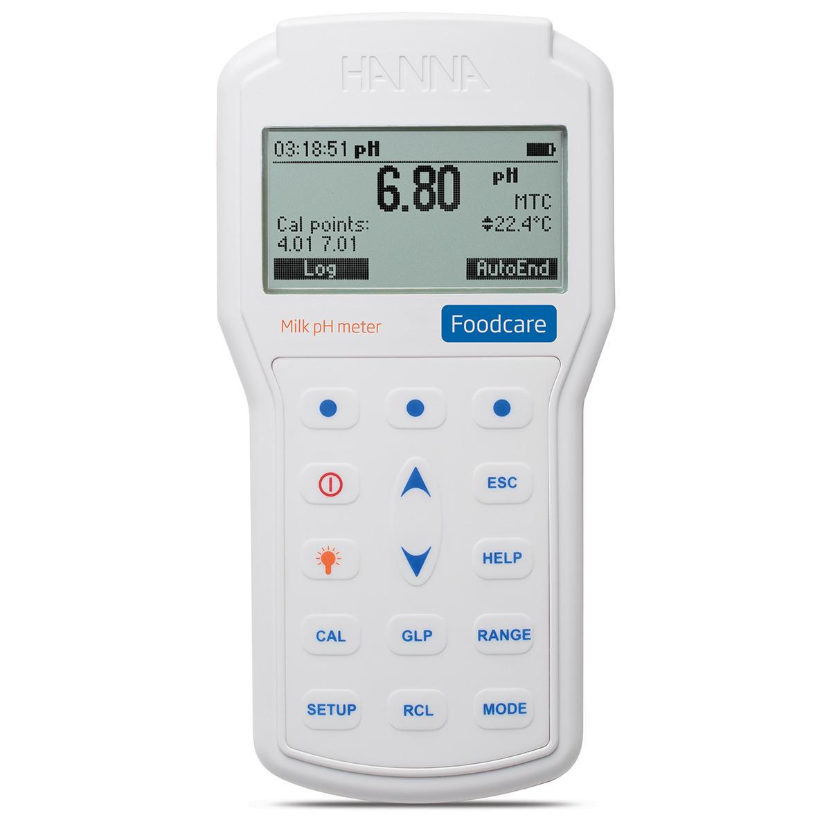 pH-metru profesional portabil pentru lapte - HI98162