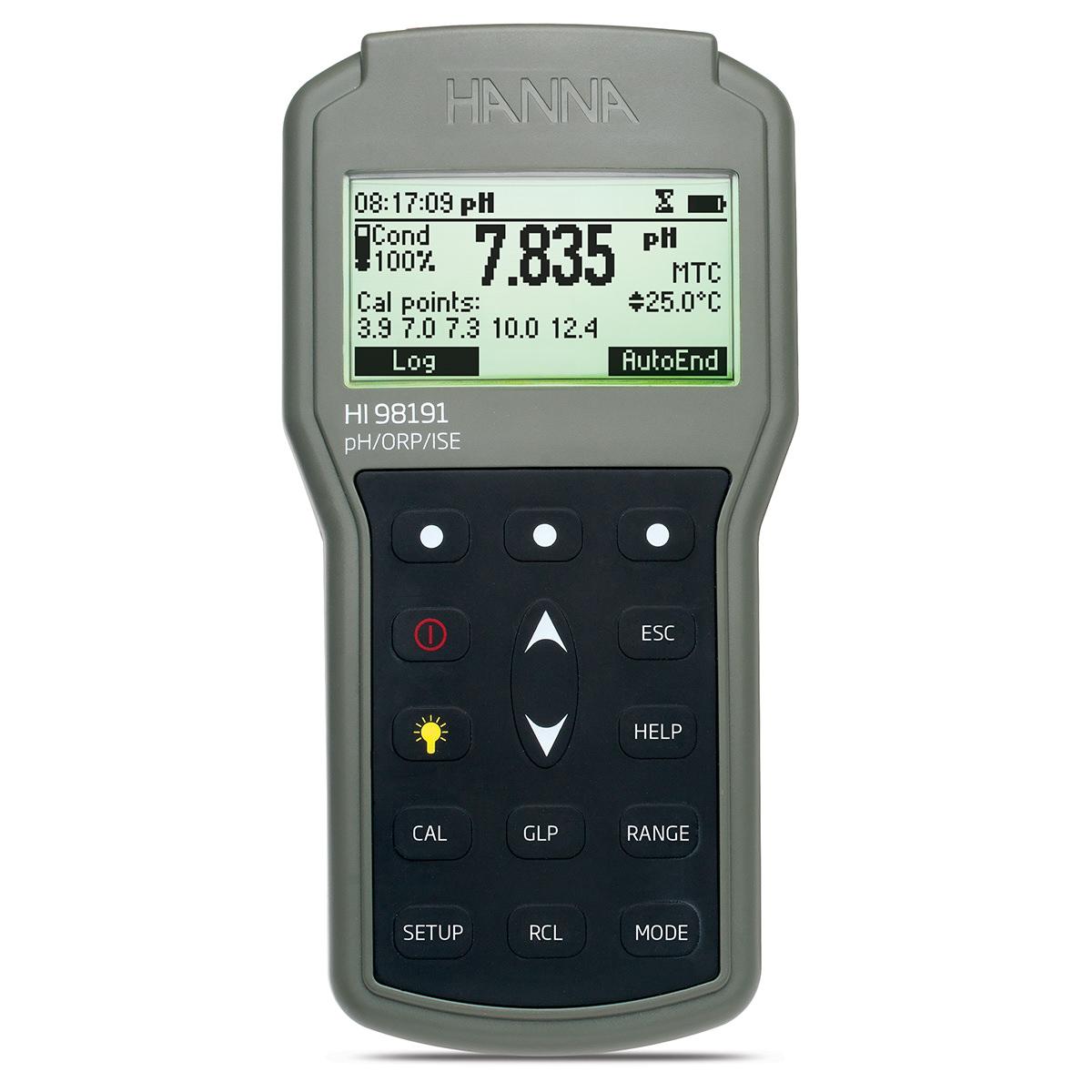pH-metru profesional impermeabil pentru pH/ORP/ISE - HI98191