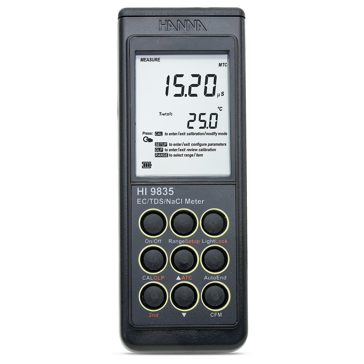 Conductometru EC/TDS/NaCl/°C  - HI9835