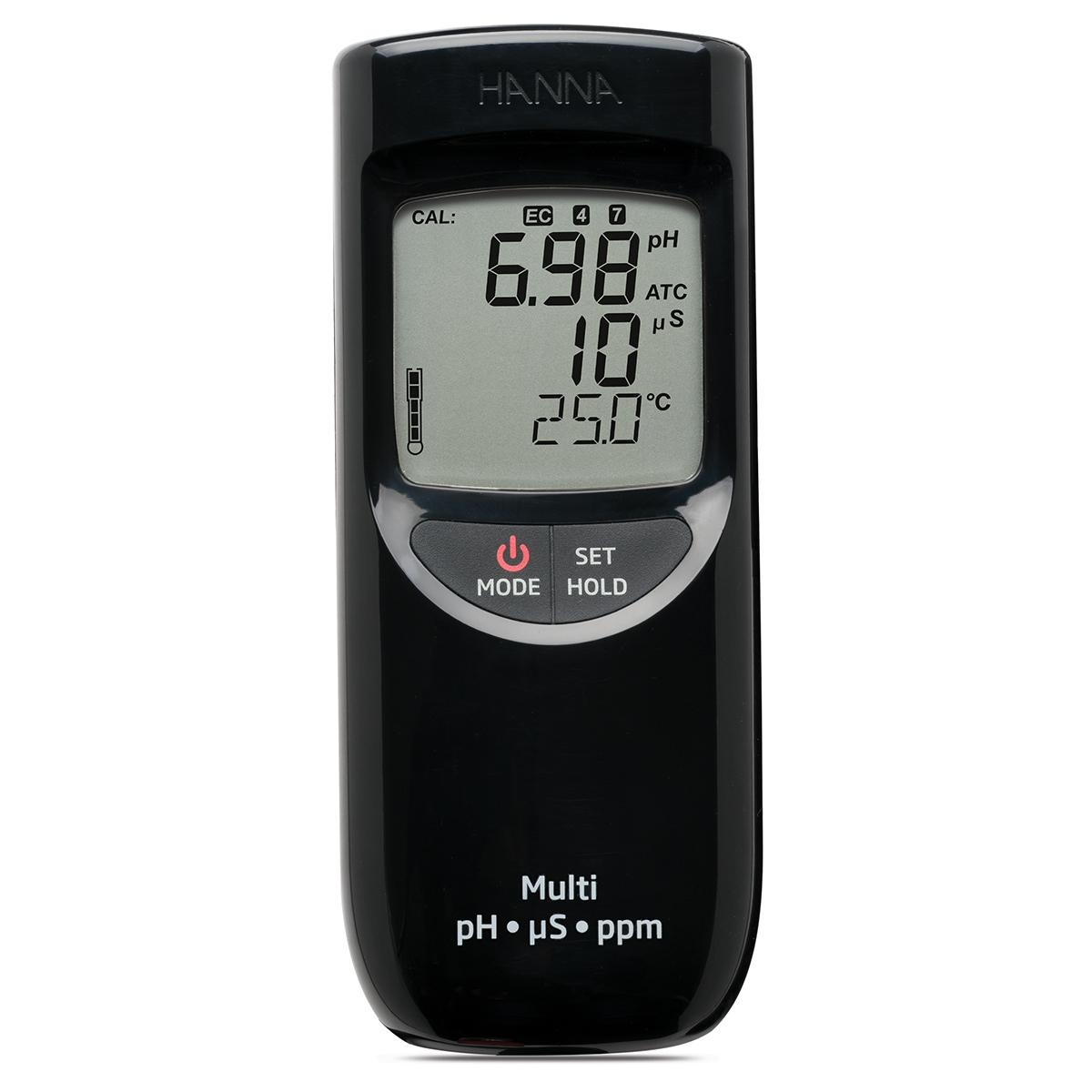 Misuratore portatile di pH/EC/TDS a tenuta stagna (Scala bassa) - HI991300