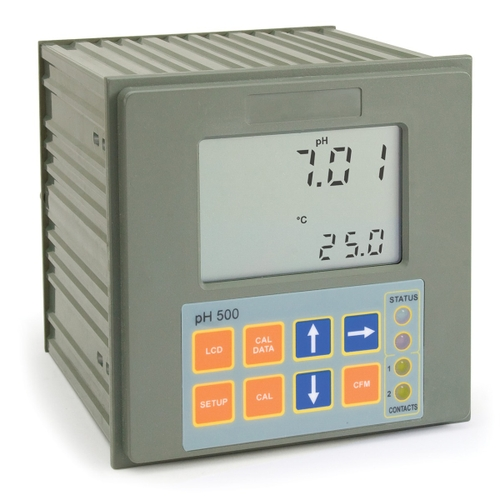Panel-mounted pH Digital Controller with Matching Pin - pH500 series