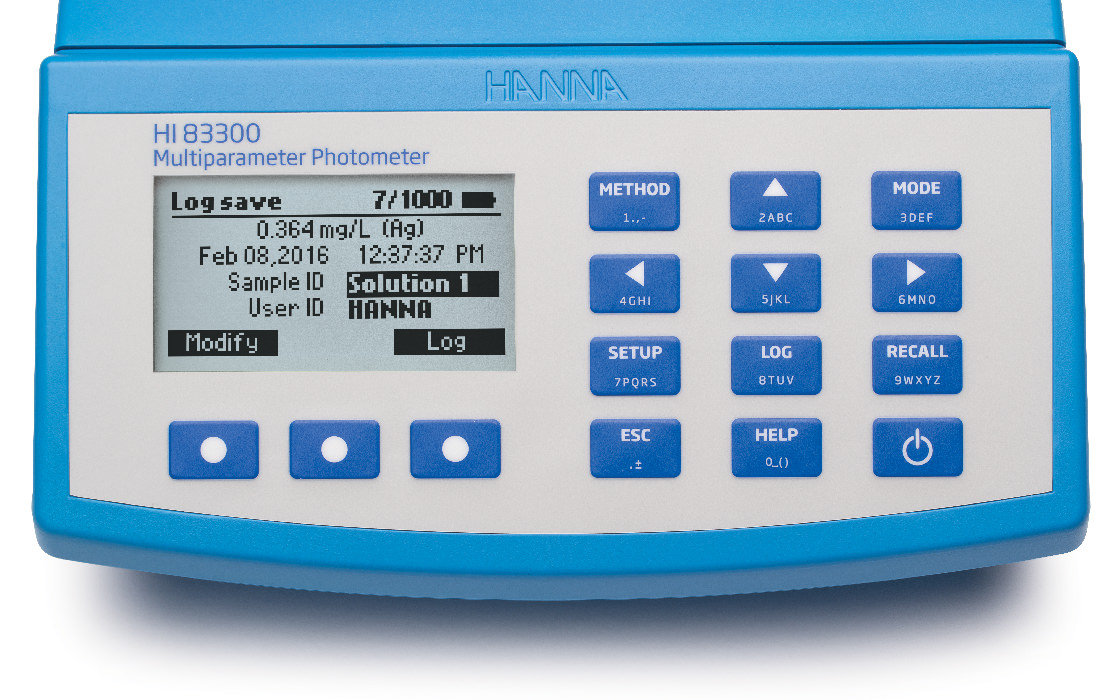 HI83300 photometer multiparameter logging